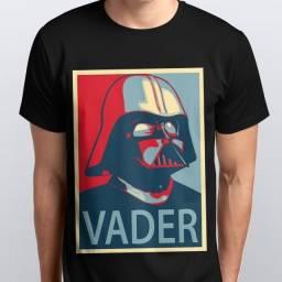 Camiseta Preta Star Wars, Darth Vader Theme
