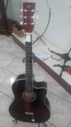 Violão folk elétrico kaps