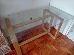 Linda mesa tampo de vidro temperado