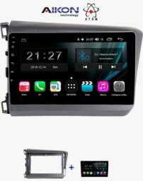 multimidia civic g9 aikon basic 2 gps android 9 usb radio youtube waze wifi 2gb ram