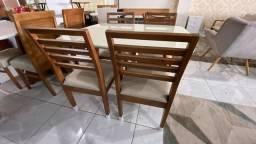 Título do anúncio: Mesa 4 lugares completa madeira maciça pronta entrega