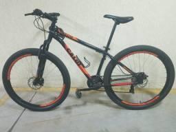 Bike Caloi Vulcan - Aro 29 - Freio a Disco Mecânico - Câmbio Traseiro Shimano - 21 Marchas