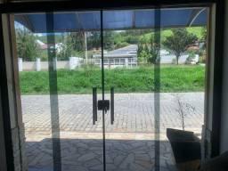 Porta de vidro 2.50m x 2.50m