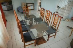 Mesa de jantar 8 cadeiras (220cm x 110cm x 2cm)
