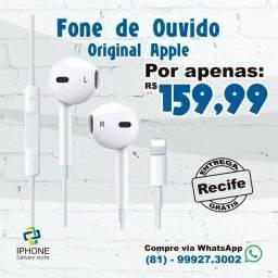 Fone de Ouvido Lightning Original Apple (Entrega Grátis)