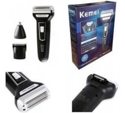 Maquina Kimei KM6558 3 x 1, barbeador, aparador e corte!