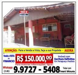 Casa 2 Quartos - Vila Marim - Paraguaçu Paulista