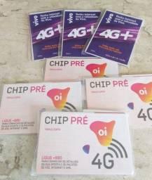 Chips 3 em 1 (Nano, Micro e Mini) Vivo e OI em Campo Grande RJ