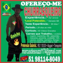 Churrasqueiro e Assador Profissional R$ 1.100,00 em Salvador Ofereço-me