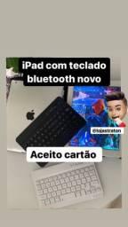iPad 2 com teclado bluetooth novo ACEITO CARTÃO