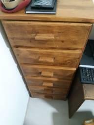 Gaveteiro vertical madeira