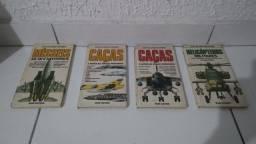 4 Livros militar caças helicóptero e mísseis