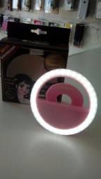 Mini ring light recarregável