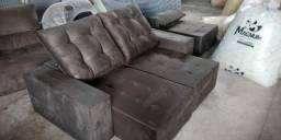 Sofá Retratil reclinável de 2 lugares