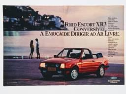 Escort XR3 1984, 1985, 1986, 1987- Propagandas antigas de revista