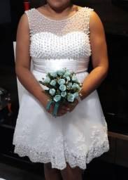 Vestido de noiva+Sandália.