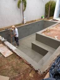 Piscina em azulejo 6x3 com spa