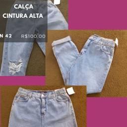 CALÇA C&A cintura alta