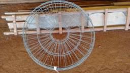 Quatro grades traseiras para ventiladores de aviário