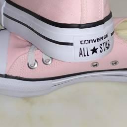 Tênis Converse Chuck Taylor All Star Platform Feminino - Rosa Claro