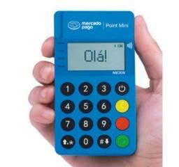 Maquina Cartões Minizinha Point Blue Visor Luminoso Nfc M30