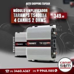 Módulo Amplificador Taramps Ts400x4 4 Canais 2 Ohms na Canal Som
