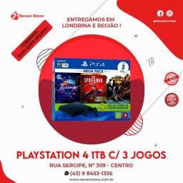 PlayStation ps4 e jogos temos com homens aranha ou gta