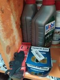 Kit Troca de oleo e filtro + pastilhas de freio Ninja 250r/300
