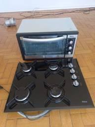 Vendo fogão cooktop 4 bocas + forno elétrico 46l