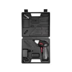kit parafusadeira a bateria articulada com 20 acessórios
