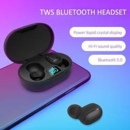 Fone sem fio E6s Bluetooth Android e IOS. Display digital de LED