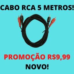 Cabo RCA 5 Metros Promoção Novo Marca Napoli Blindado Imperdível!