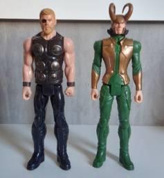 Boneco Vingadores Thor e Loki