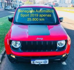 Renegade 1.8 Flex Automático 2019 apenas 25.800 km