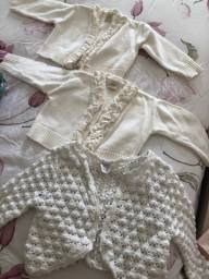 Casaco branco 6 meses a 1 ano