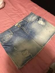 Saia jeans da Zara tamanho M