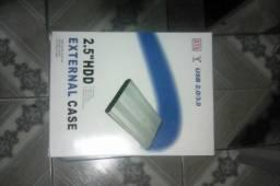 Case para HD e HD externo de 500gb