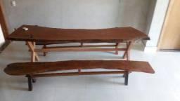 Mesa madeira maciça de angico rústica