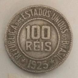 Moeda Antiga Brasileira - Ano 1925 - 100 Reis - (ref 624)