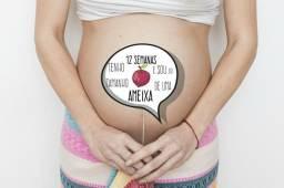 Arte para plaquinhas de acompanhamento da gravidez