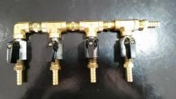 Manifold Co2 4 Vias Divisor Co2 Cerveja Artesanal