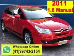 Citroen C4 Hatch GLX 1.6 Manual ano 2011 * 2º Dona * Aceito Troca * Financio - 2011