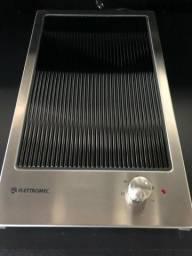 Cooktop Domino Elettromec Qudratto Grelha Vitroc 30,5x51 Eletrico