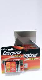 Pilhas Energizer Alcalina AAA-6 caixa com 12 cartelas