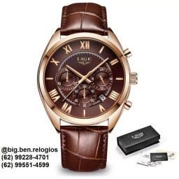 Relógio Lige Superior Luxo