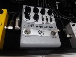 Pedal Nig amp simulator e case para pedais 34x61
