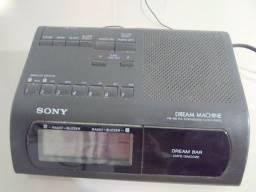 Radio relógio digital sony - modelo raro