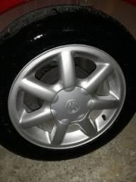Rodas vw aro 14 pneus meia vida