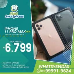 Iphone 11 PRO MAX (LACRADO, 64GB, TODAS AS CORES ) NACIONAL (ANATEL+GARANTIA) 1 ANO