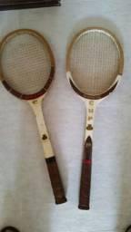 Par de raquetes antigas davis cup
